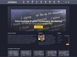 intermediate vocabulary course