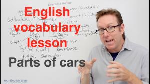 english vocabulary car parts