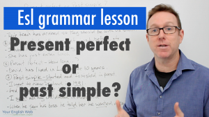 using present perfect and past simple