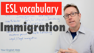 english vocabulary about immigration