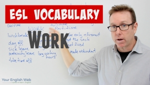 english vocabulary lesson about work