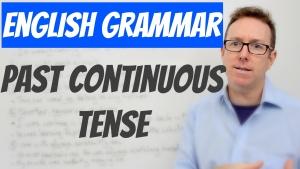 English grammar Past continuous tense
