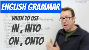 English prepositions IN, INTO