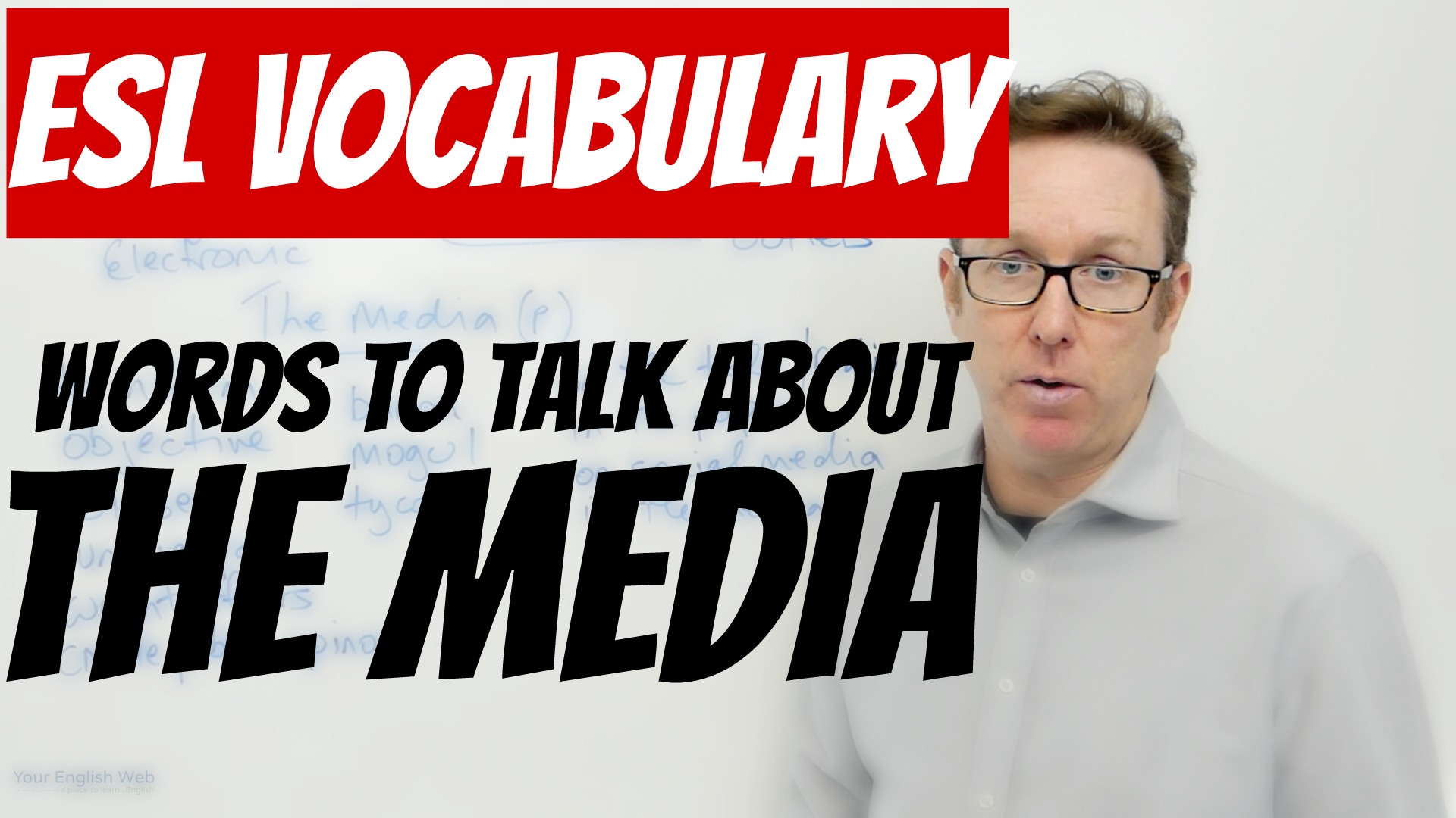 english words about media