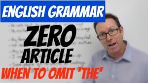 English grammar Zero article
