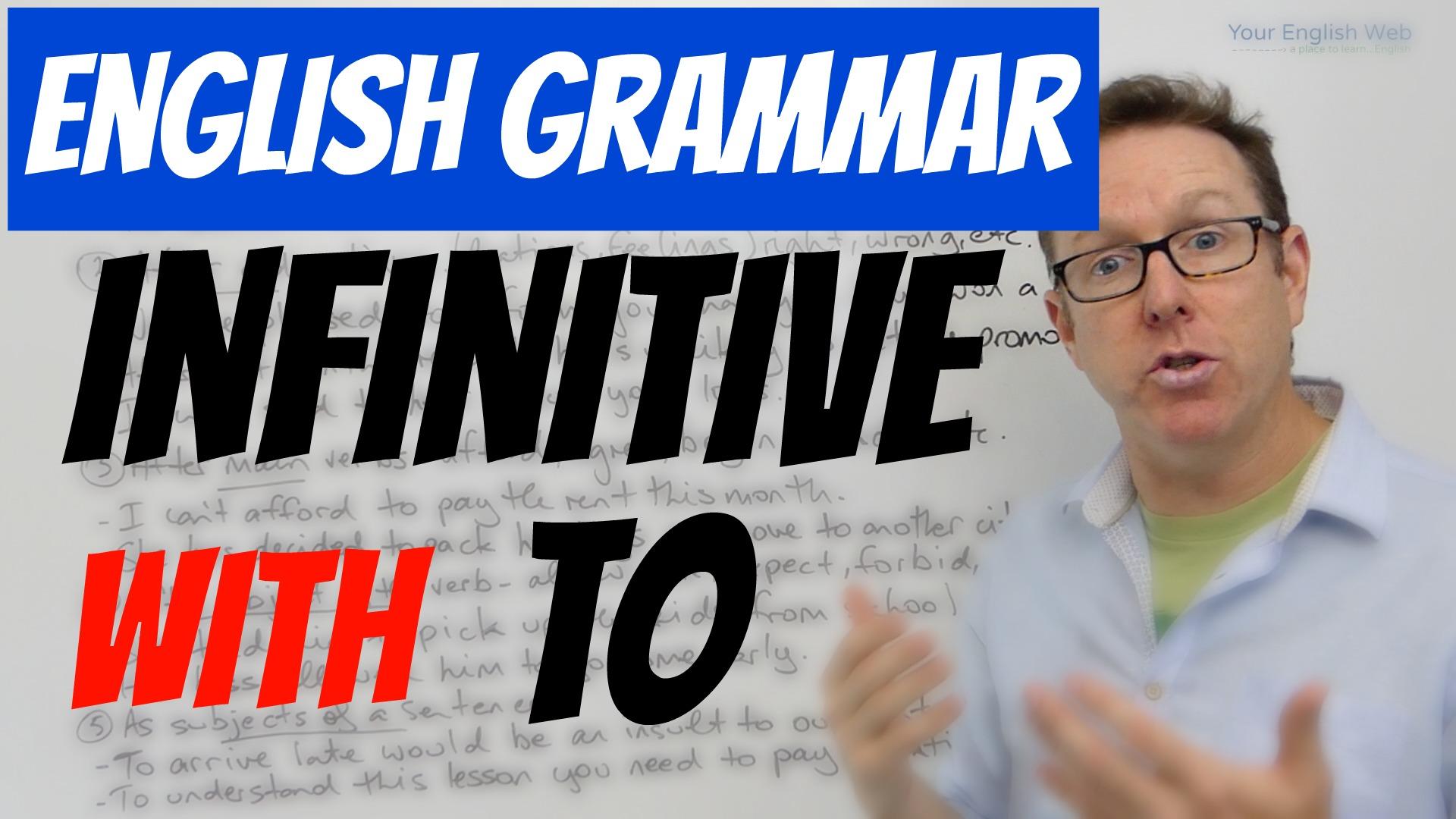 english grammar infinitive