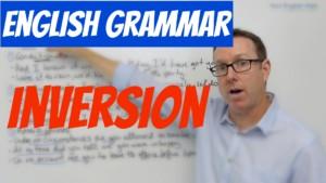 English grammar Inversion