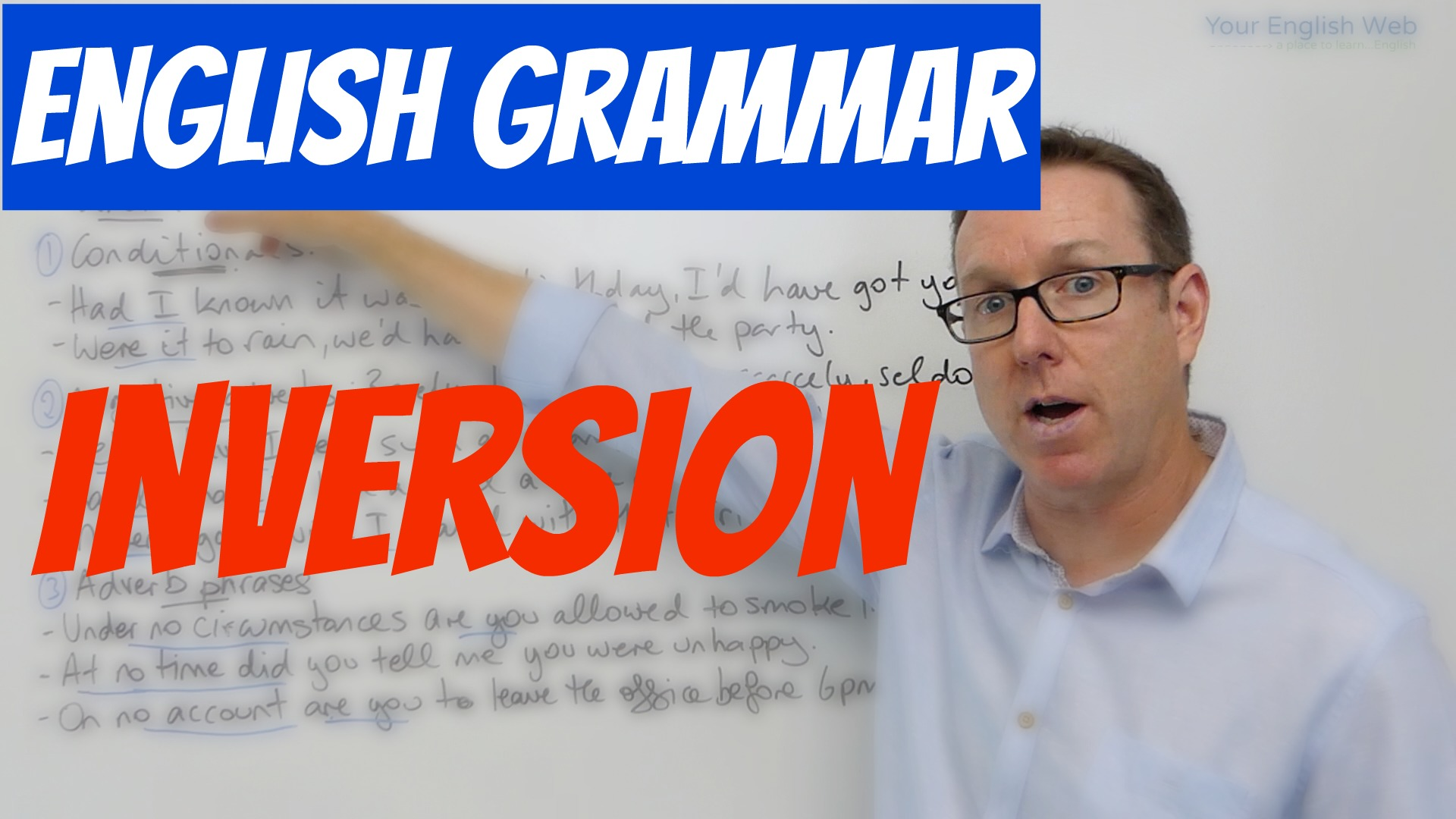 English grammar Inversion