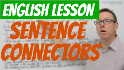 English sentence connectors