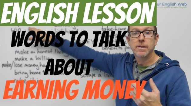 English Expressions Earning Money