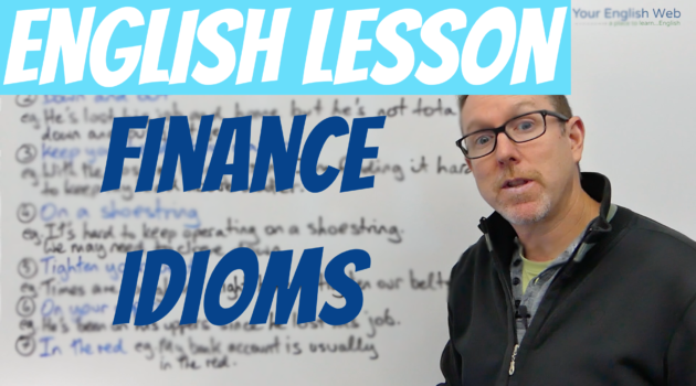 Business English Financial Idioms Poor