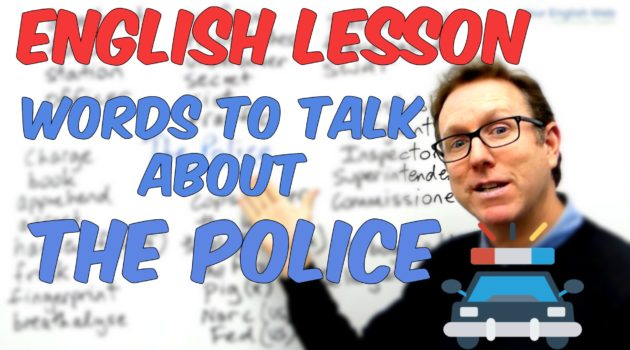 English Vocabulary lesson Police