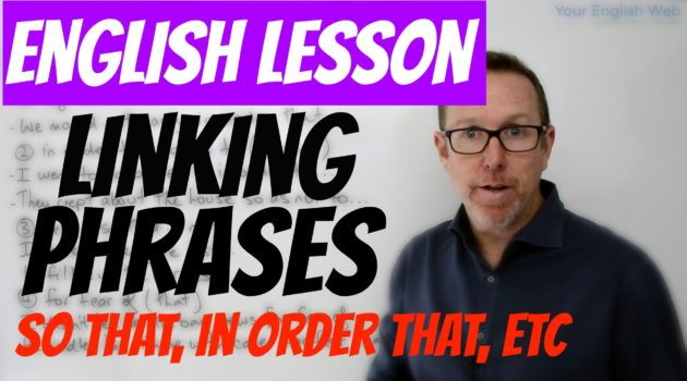 Linking words and phrases of purpose