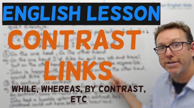 contrast linking words