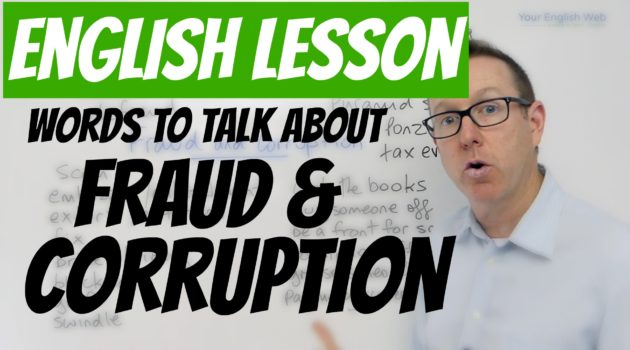 Words to talk about Fraud and Corruption