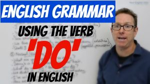 use the verb do