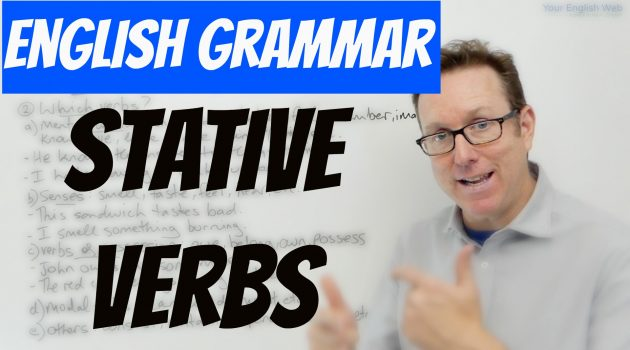 using stative verbs in English