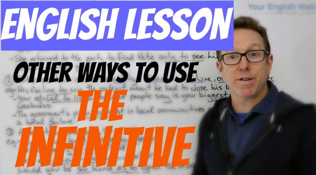 use the infinitive in English
