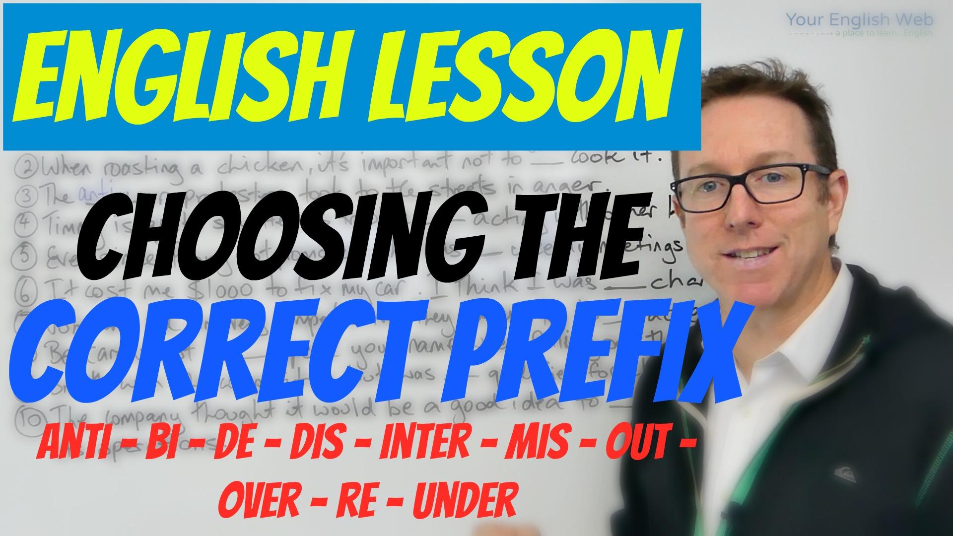 choosing correct prefix